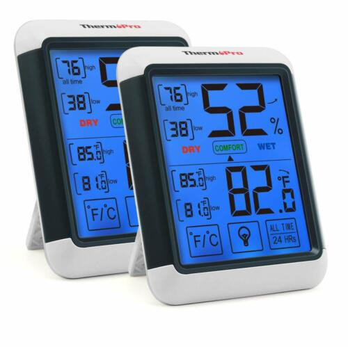 2X Large LCD Digital Indoor Thermometers Hygrometer Humidity Temperature Monitor
