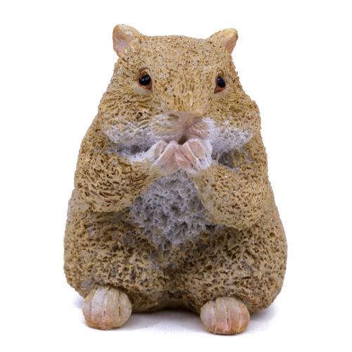 """Cute Mini Hamster Figurine With Full Cheeks 1.75"""" High New In Box!"""