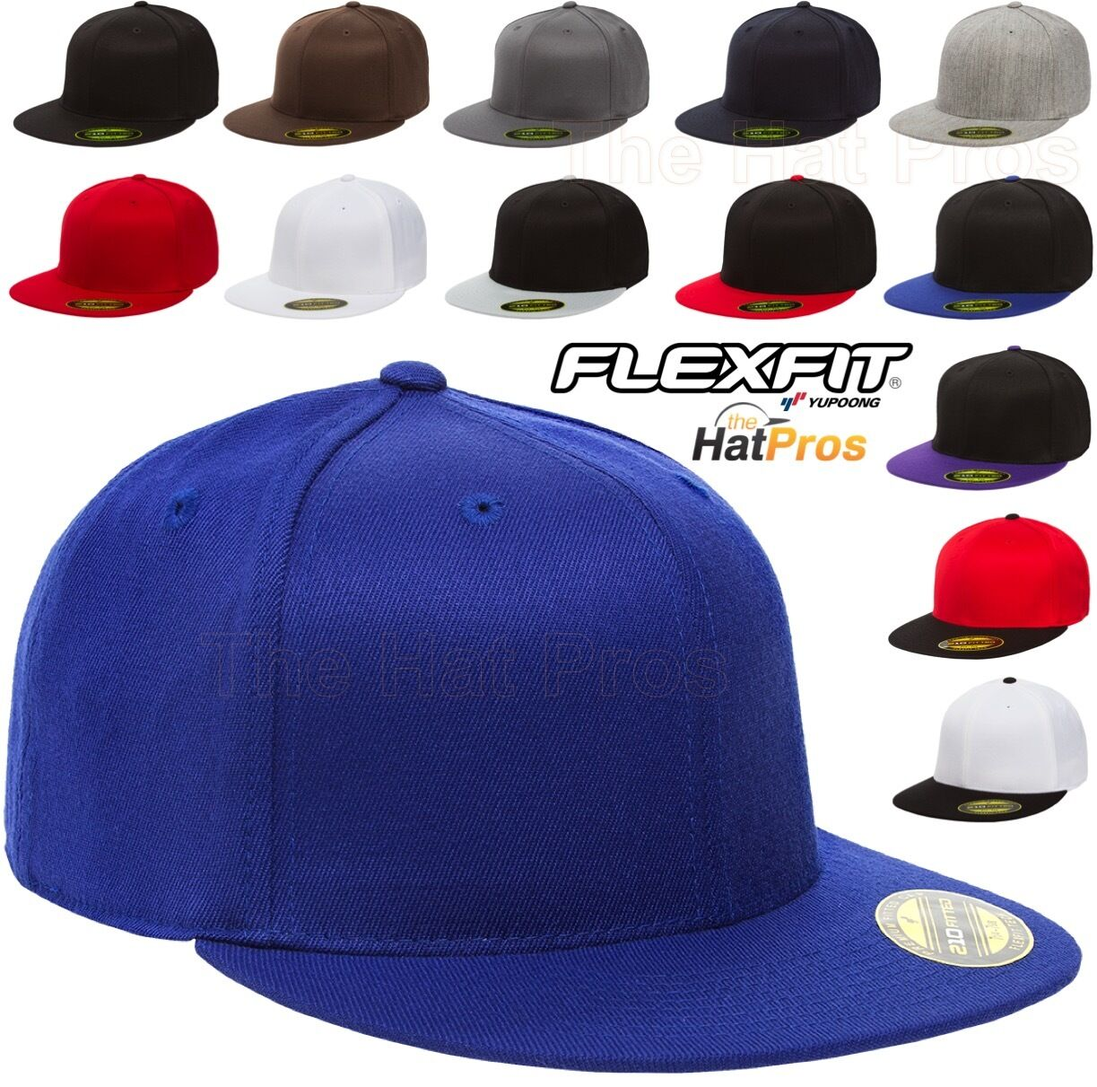 6210/T New Flexfit Premium Flatbill Fiited Baseball Cap 210