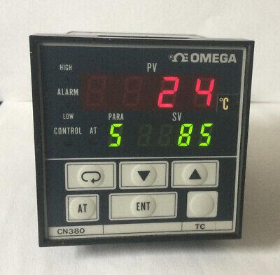 Omega Cn382 Tc Digital Temperature Panel Meter Used