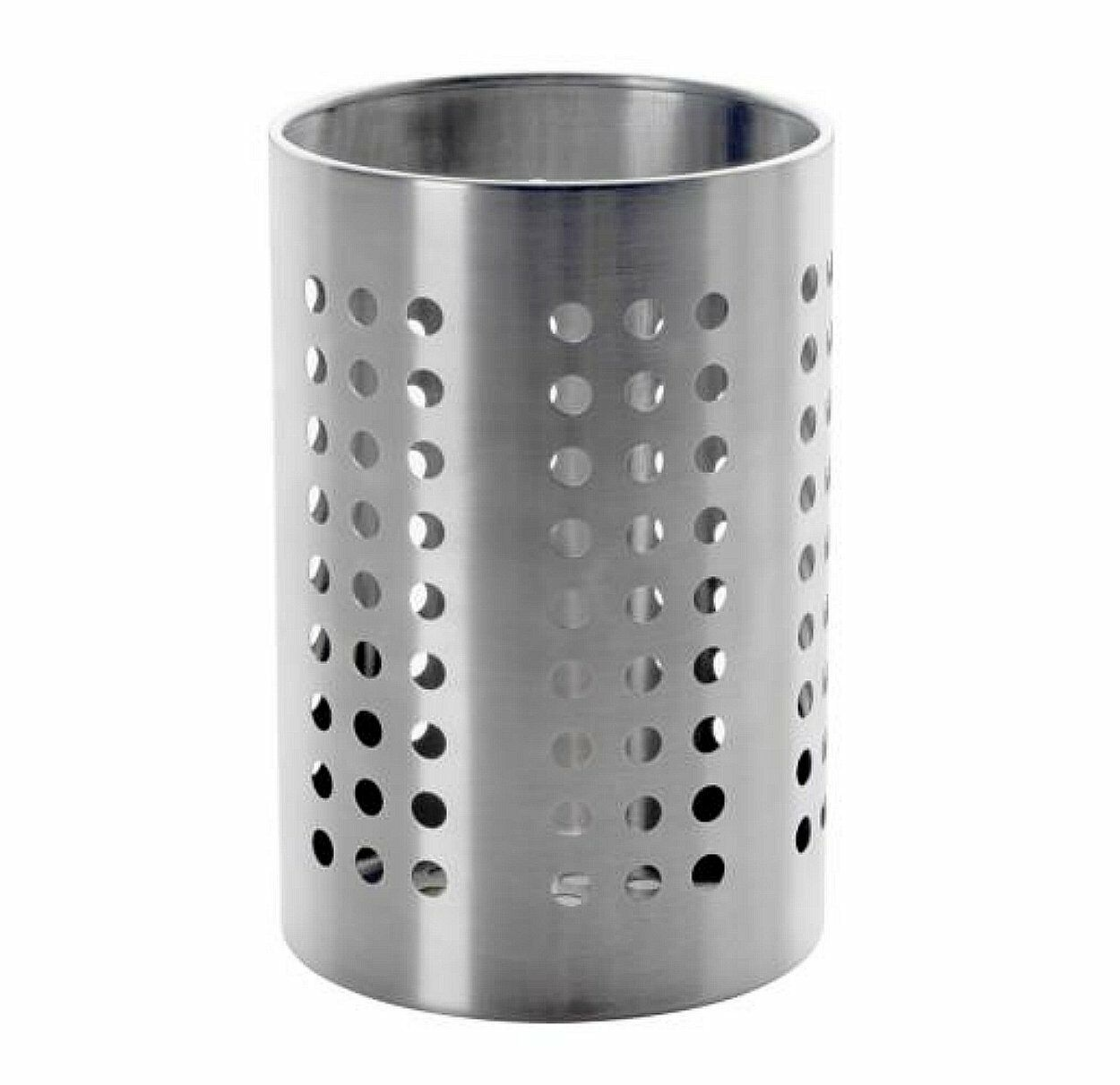 Large Kitchen Utensil Caddy IKEA ORDNING Stainless Steel Cooking Tools Holder