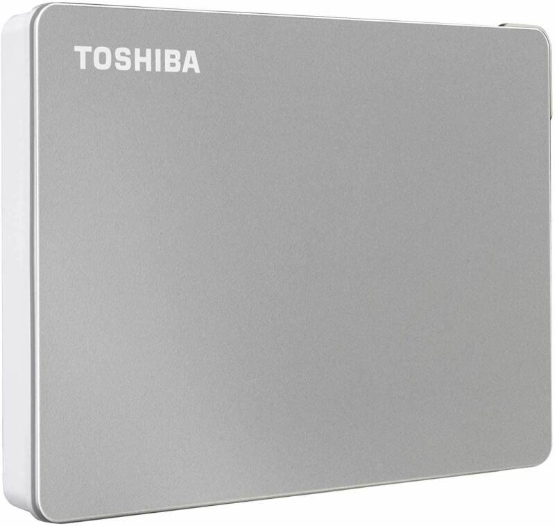 Toshiba Canvio Flex 2TB Portable External Hard Drive USB-C USB 3.0, Silver for P