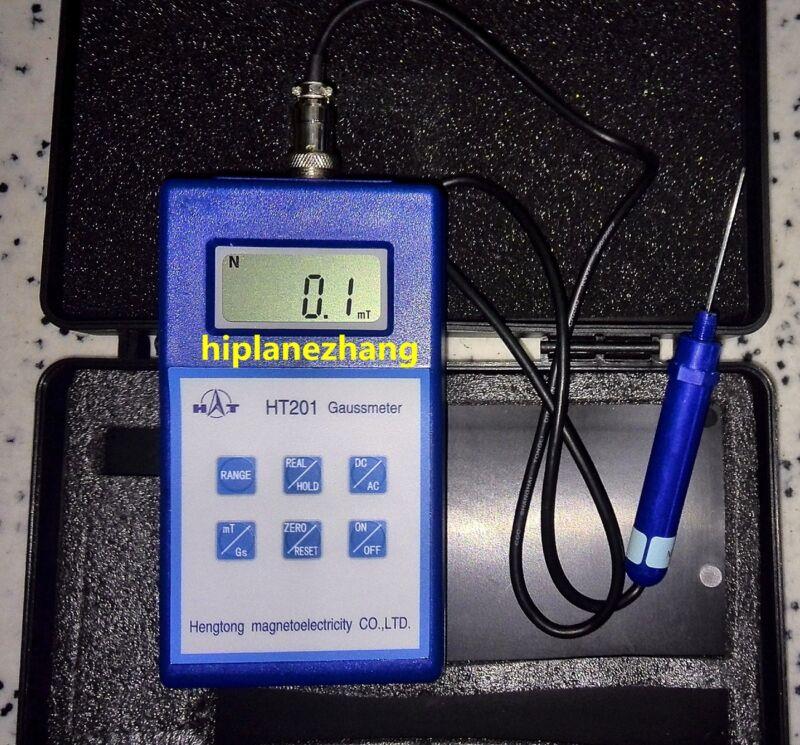 Handheld Digital Gauss Tesla Meter Tester Gaussmeter AC DC Range 2000mT HT201