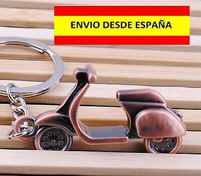 LLAVEROS DE VESPA MOTOS MOTEROS SCOTTER METÁLICO MUY BELLO LLAVES LUJO REGALO