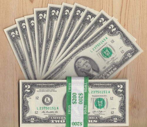 Lot of TEN (10) 2013 CRISP $2 TWO DOLLAR BILLS - SF - CONSECUTIVE  Uncirculated