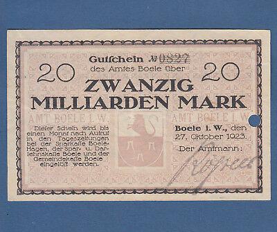 BOELE 20 Milliarden Mark 1923 II / XF