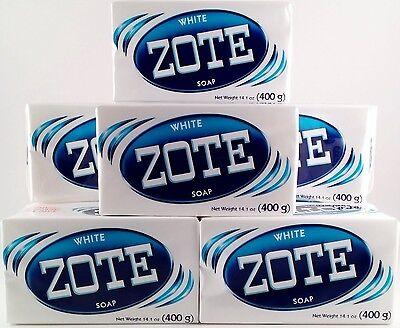 Zote White Blanco Laundry Soap 14 oz Bar 400g Lot of 8 JABON Prepper FRUGAL DIY