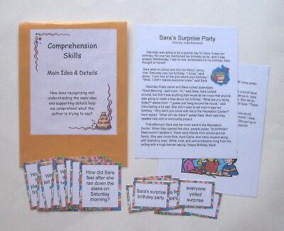 Teacher Made Literacy Center Game Comprehension Skills Main Idea & Details