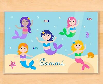 Mermaids Personalized Kids Placemat for Girls