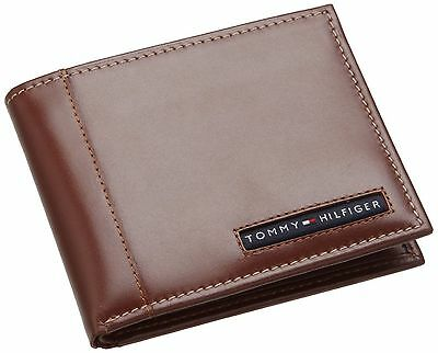 NEW TOMMY HILFIGER CAMBRIDGE TAN LEATHER CREDIT CARD CASE BILLFOLD MEN'S WALLET