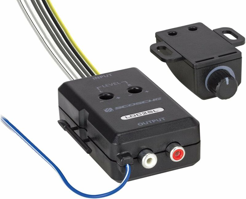 Scosche Car Stereo 2-Channel Audio Adjustable Amplifier  - Add-On Adapter, Black