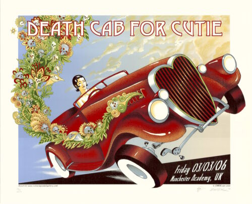 MINT & SIGNED EMEK 2006 Death Cab For Cutie Manchester CREAM Poster 114/150
