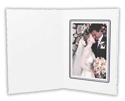 Cardboard Photo Folder For a 3.5x5 Photo (Pack of 50) GS006 White Color