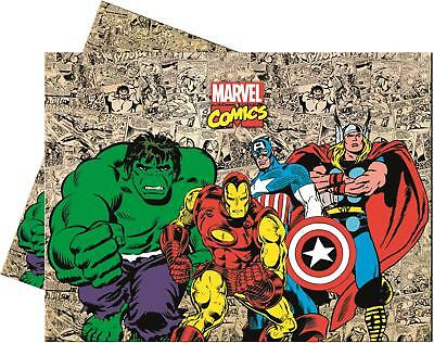 Marvel Comics Paper Party Table Cover Disney Avengers Iron Man Hulk - Avengers Table Cover