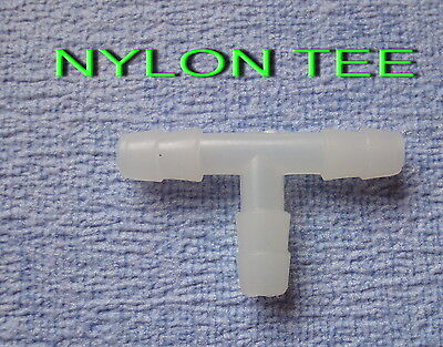 NEW 4 MM BARBED POND HOSING TEE T PIPE FITTINGS JOINER CONNECTOR