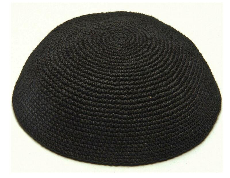 Classic Black Jewish Dome cupola Yarmulke Knitted Yamaka Kippa knoll Hat Cap