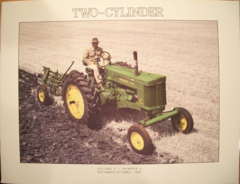 John Deere Model 70 tractor - TWO CYLINDER magazine 1992