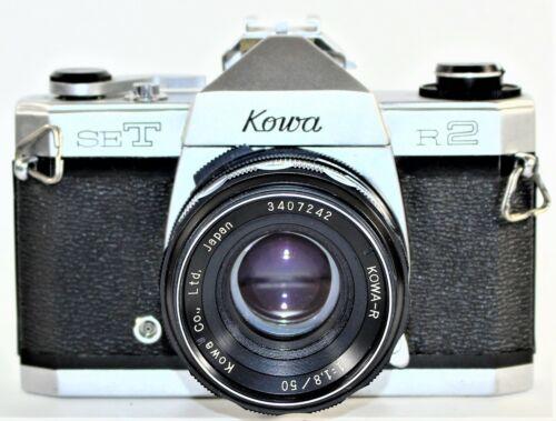 Kowa SET R2 35mm SLR Film Camera-Kowa 50mm f/1.8 Lens AS IS