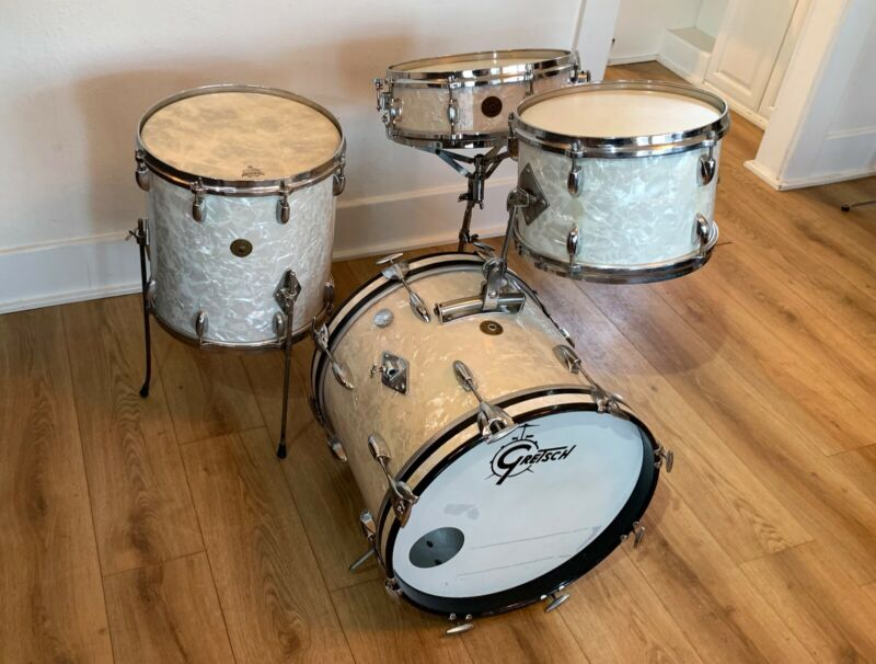 1960s RB Gretsch Progressive Jazz Drum Set - 18-14-8-4x14 Max Roach Snare