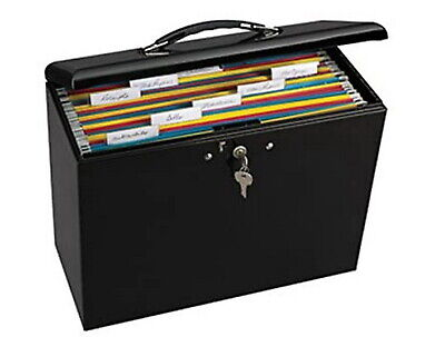 Portable File Box Locking Folder Storage Security Metal Steel Office Desktop New