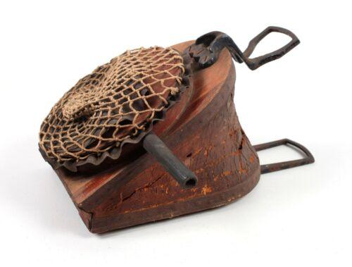 Antique Buffalo Dental Mfg. Dentist Foot Air Pump No. 9 Wood Leather Cast Iron