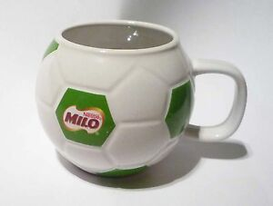 MILO-Ceramic-MUG-CUP-FOOTBALL-DESIGN-Green-White-Malaysia-Nestle-3-tall