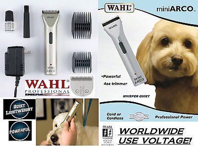 Wahl Mini Arco Cord/Cordless Rechargeable Trimmer/Clipper KIT &Blade,Guide Combs for sale  Shipping to India