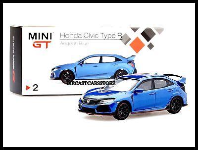 MINI GT HONDA CIVIC TYPE R FK8 AEGEAN BLUE (LHD) 1/64 DIECAST CAR