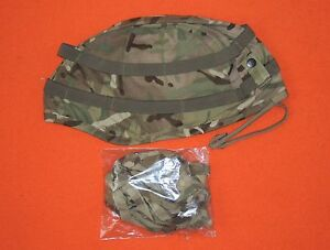 NEW BRITISH ARMY ISSUE MTP CAMO Mk7 HELMET COVER + SCRIM - SIZE OUTSIZE LARGE