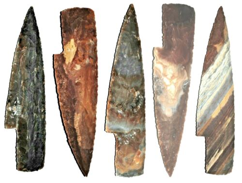 "6"" TO 7""  Flint/stone knife blade Arrowhead Spearhead Chert bow HUNTING Texas 1"