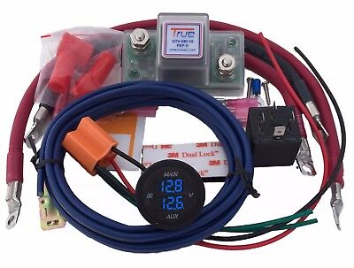 True Utv Sbi 15Cm Utv Dual Battery Isolator Connect   Monitor Kit Polaris Honda