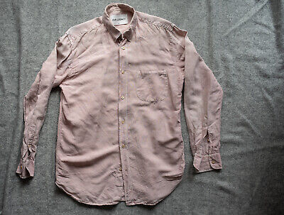 SPRINGTIME LINEN BLEND Our Legacy Pigment Dyed Light Pink Button Down Size 48/M