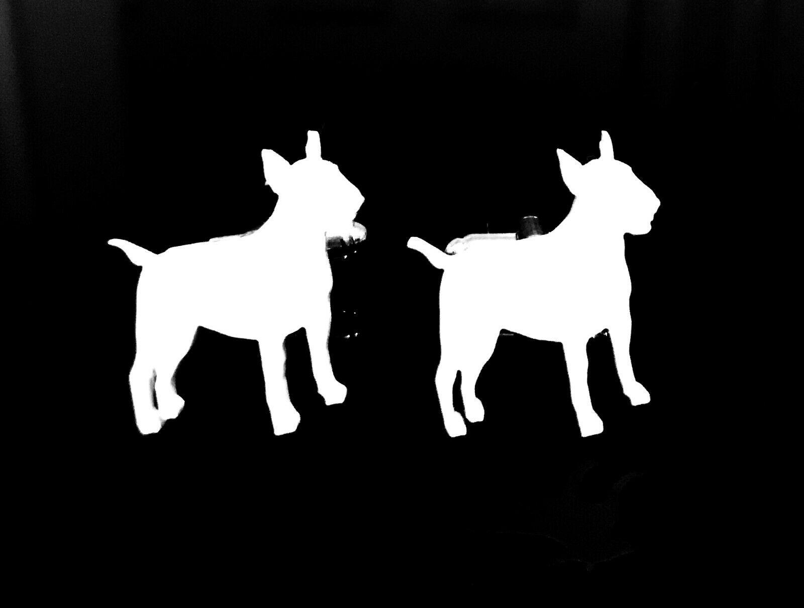 Anglais bull terrier 1 chien hommes nouveauté boutons blanc avec cadeau sac