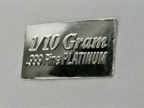 PLATINUM Pure .9995 PLATINUM 1/10 of a gram INVESTMENT BULLION BAR A6