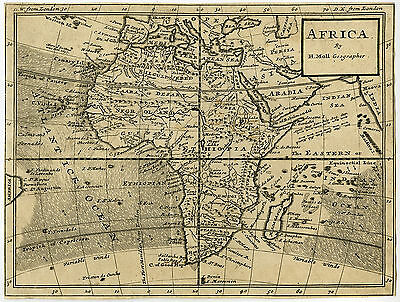 Antique Map-AFRICA-Moll-1730