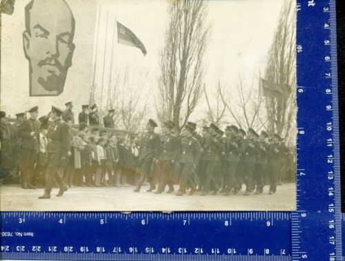 WW Military Vintage Photo parade USSR Stalin Lenin