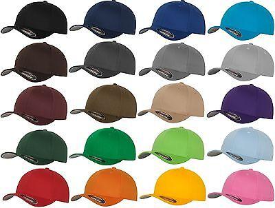 FLEXFIT® ORIGINAL BASEBALL CAP Wooly Combed Kappe Mütze Blank Basecap Basic Hat