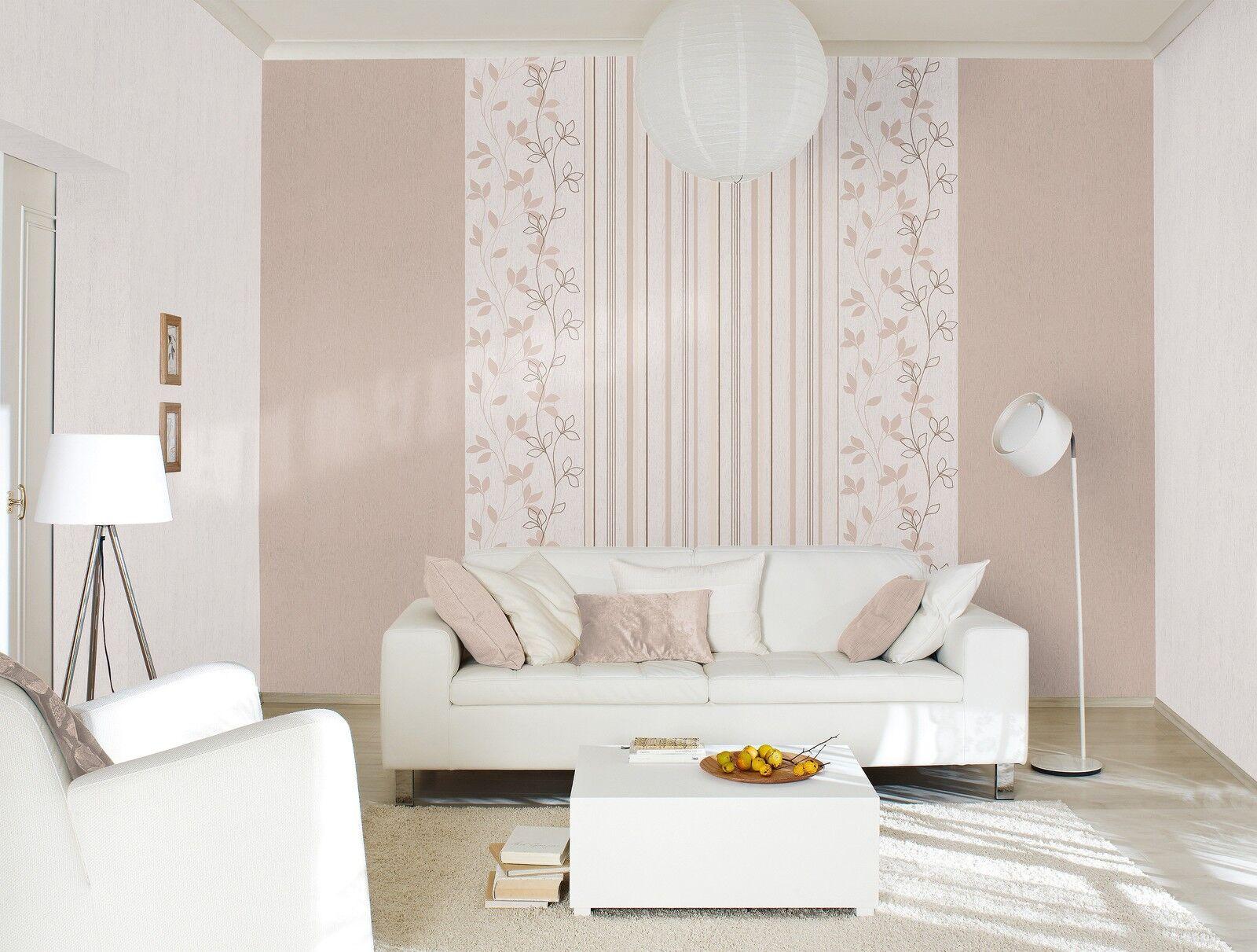 Vliestapete creme braun beige Blumen Uni Streifen Rasch Home Style 4 Varianten