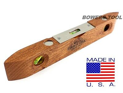 Grace 9 Wooden Torpedo Level Vintage Wood Style Carpenter Made In Usa