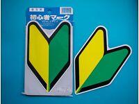 JAPAN BEGINNER DRIVER SOSHINOYA WAKABA JDM EMBLEM BADGE