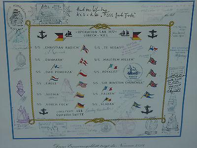 Operation Sail 1972 L�beck Kiel OPSail Segelregatta Gorch Fock Winston Churchill