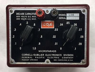 Cornell Dubilier Decade Capacitor Box Model CDB-3