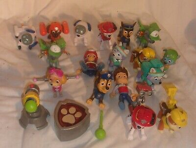 Characters In Paw Patrol (LARGE LOT OF PAW PATROL ACTION FIGURES IN VERY GOOD CONDITION LOTS OF)