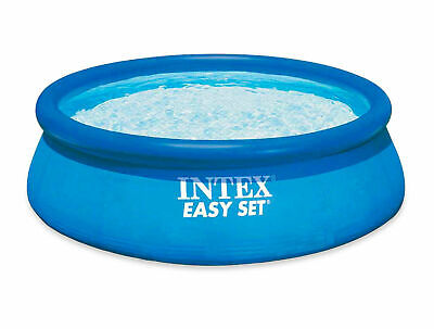 INTEX LARGE INFLATEABLE SWIMMING POOL EASY SET 8FT ABOVE GROUND GARDEN QUALITY