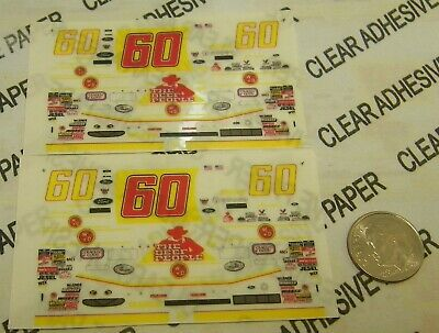 HO Vintage 70/'s WHITE SELF ADHESIVE STICKERS Aurora AFX TJET TYCO REPRODUCTION