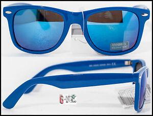 Occhiali da sole uomo donna nerd cool lenti specchio blu - Occhiali specchio blu ...