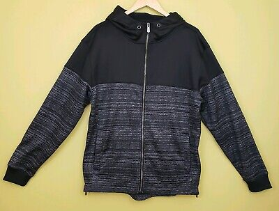 CHAMPSSPORTS GEAR (CSG) Mens Black Zip-UpJacket Hooded Hoodie Size L