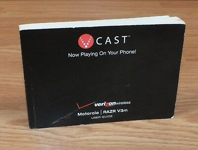 Genuine V Cast Verizon Wireless User Guide Manual Only For Razr V3m READ Verizon Wireless Razr V3m