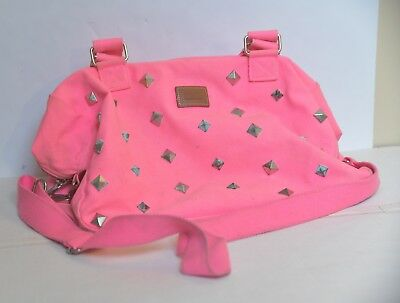 Woman's Victoria's Secret Pink Bag Shoulder Bag Studs Book Bag Juniors          - Bag Pink Junior Handbags