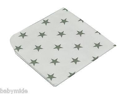 Molton Spucktücher Sterne 3er-Pack Einlage Baby Wickeln 40x40 cm taupe Baumwolle